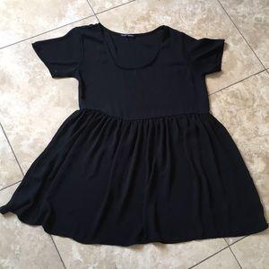 Brandy Melville Sheer tunic peplum minidress